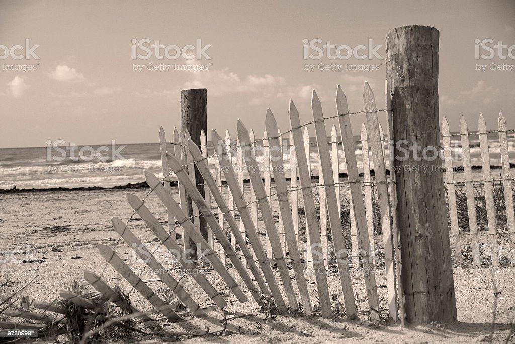 Sand dune fence royalty-free stock photo