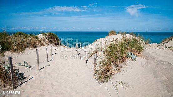 Sand dune waterfront in Nouvelle-Aquitaine - France