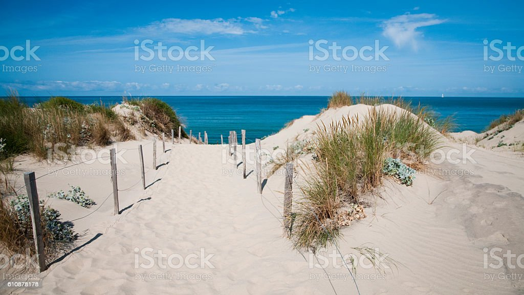 Sand dune - France stock photo