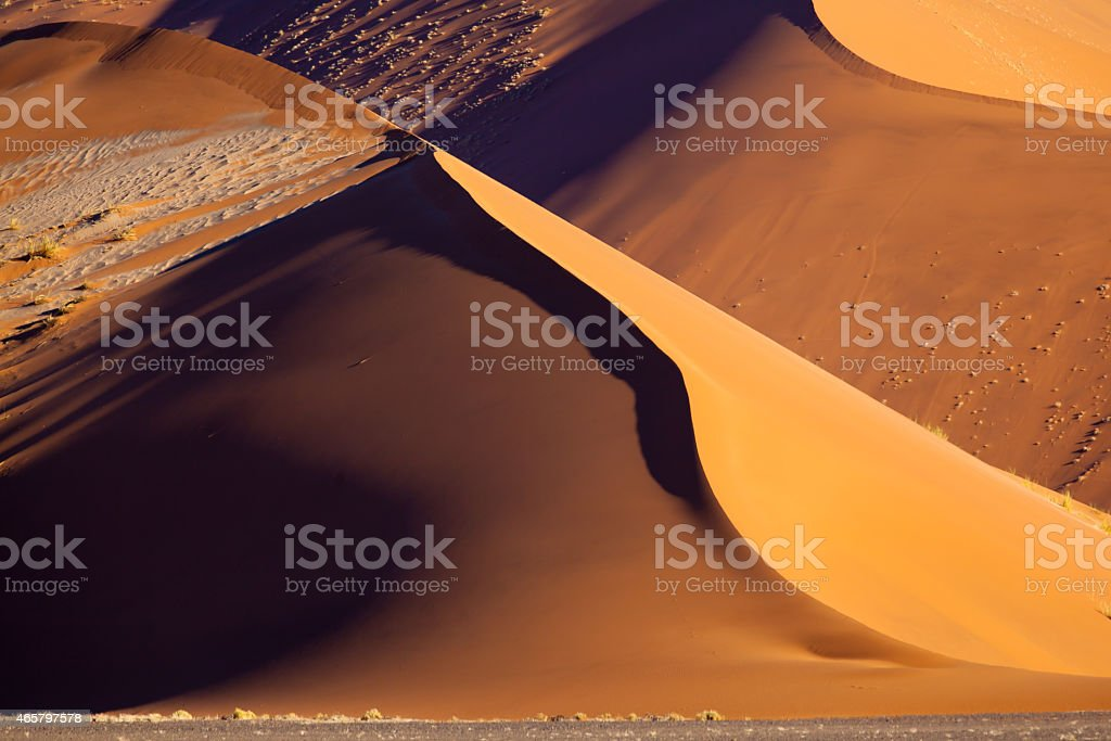 sand dune in the namib desert stock photo