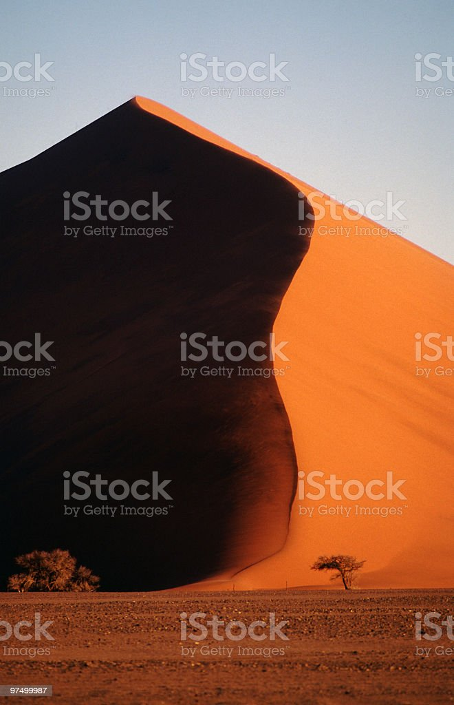 Sand Dune in the Namib Desert royalty-free stock photo
