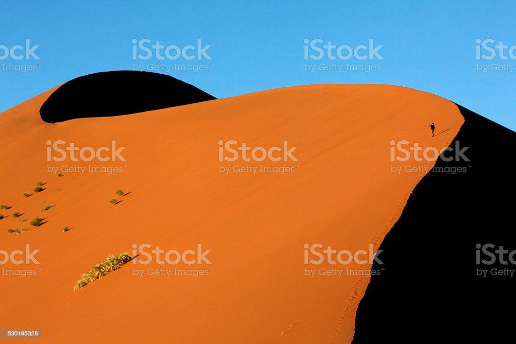 Sand Dune - Namib Desert - Sossusvlei - Namibia stock photo