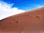 Sand dune of desert landscape