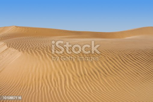 istock Sand dune of desert 1010857116