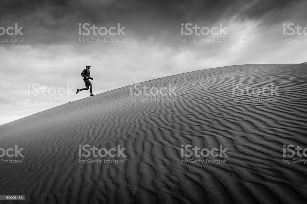 Sand Dune Runner stock photo