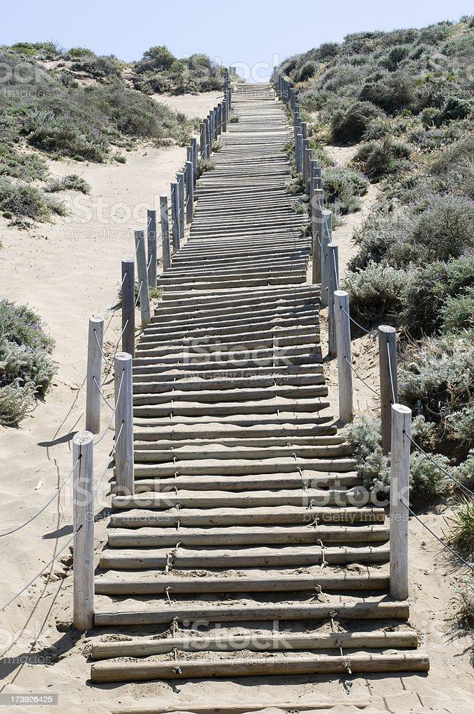 Sand dune steps stock photo