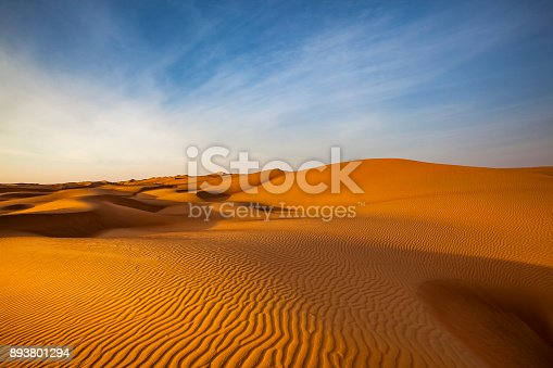 istock sand dune wave pattern desert landscape, oman 893801294