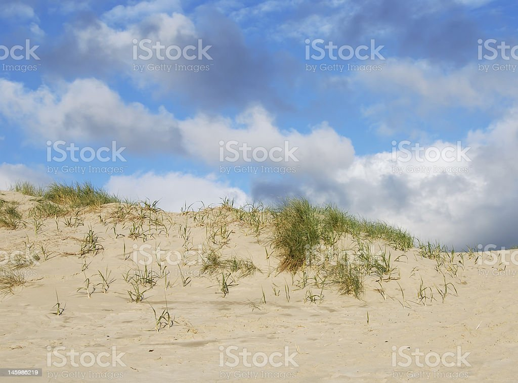 Sand Dunes and Clouds royalty-free stock photo
