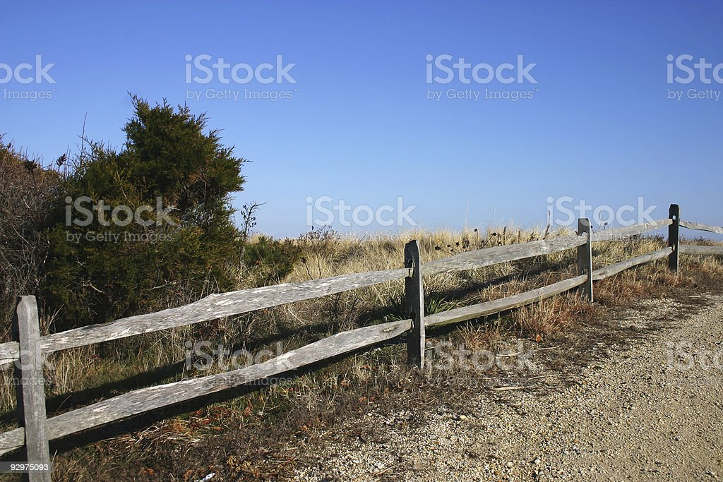 Sand Dunes and Fence - 1 royalty-free stock photo