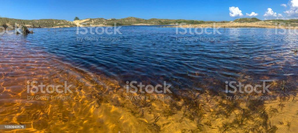 Sand-Dünen und Lagunen in Florianópolis – Foto
