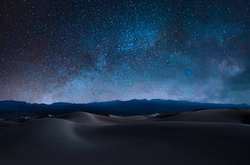Death Valley National Park, Arid Climate, Barren, Blue, California