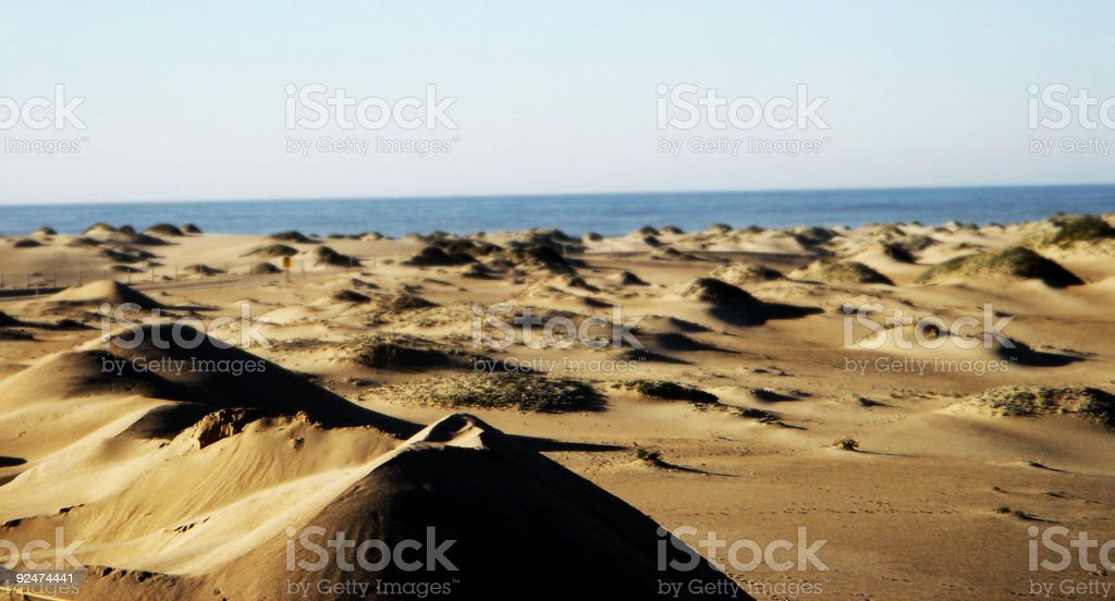 Sand Dunes and the Ocean royalty-free stock photo