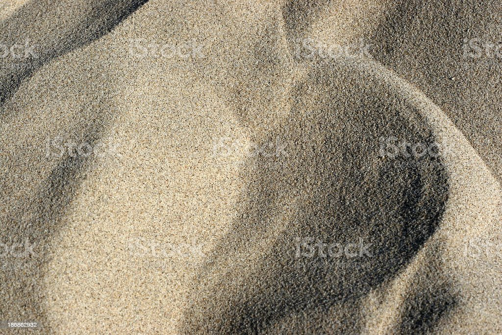 Sand Dunes and Waves royalty-free stock photo