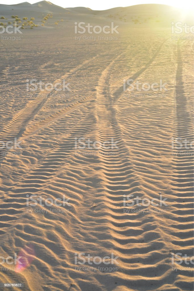 sand dunes at Imperial Sand Dunes Recreational Area, California stock photo