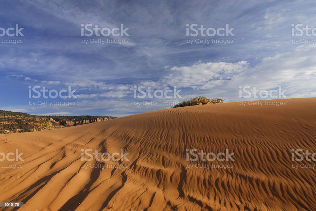 Sand dunes at sunset in Southern Utah stock photo