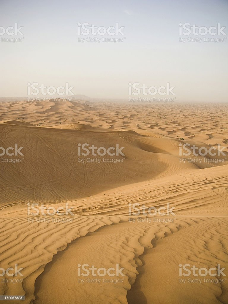 Sand dunes at sunset. royalty-free stock photo
