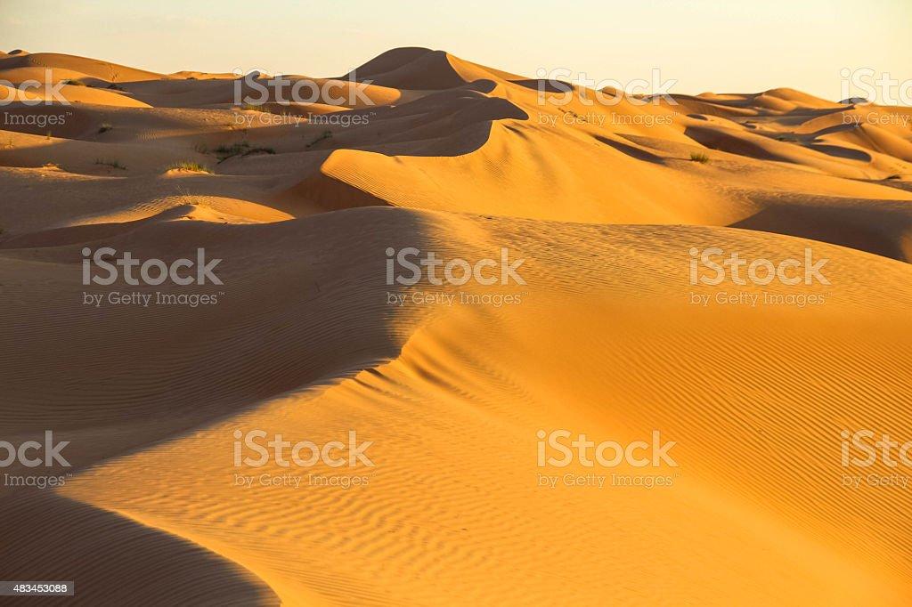 Sand dunes, desert stock photo