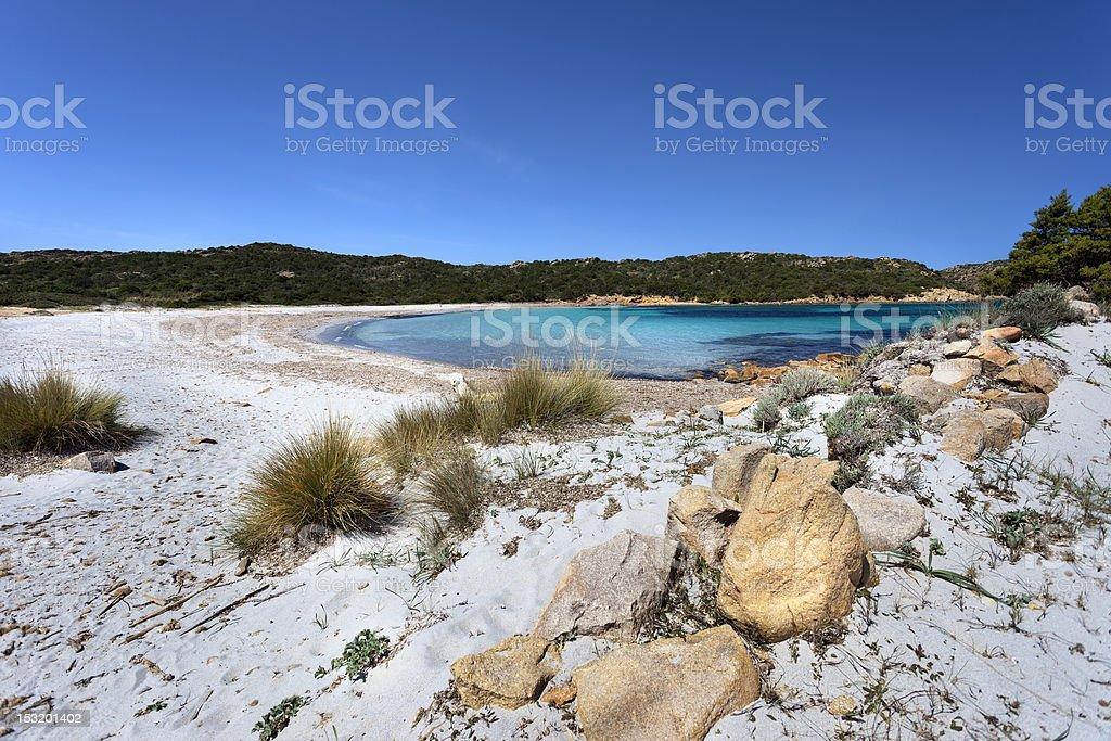Sand dunes in Cala Napoletano (Sardinia,Italy) stock photo