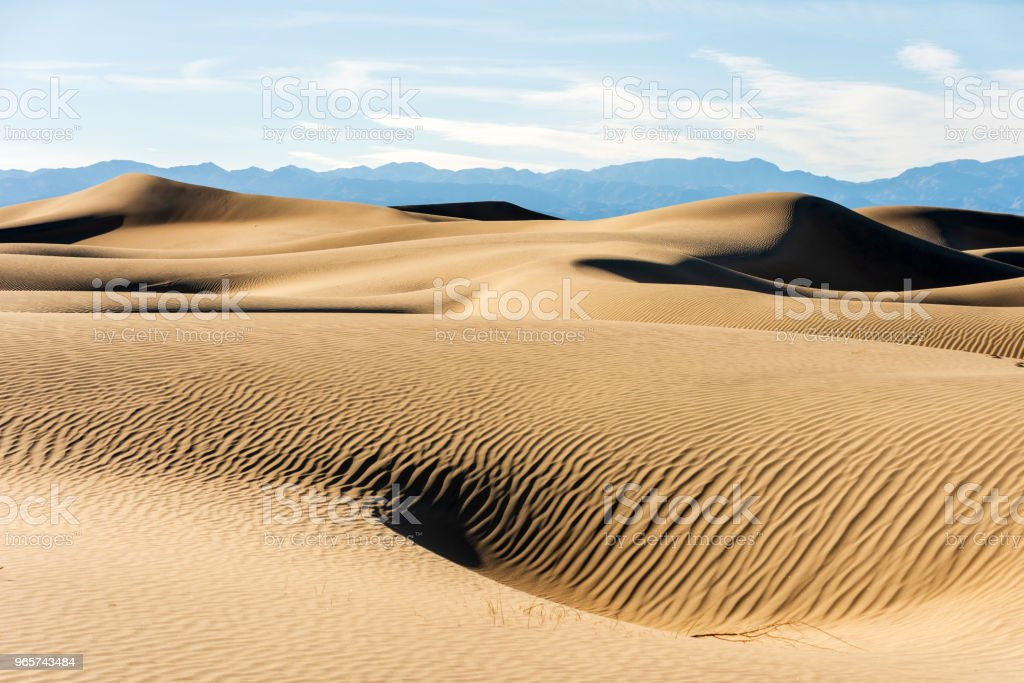 Sand Dunes in Death Valley California - Royalty-free Anoitecer Foto de stock