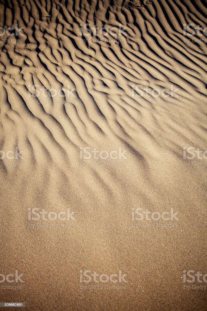 Sand dunes in Gran Canaria, Spain stock photo