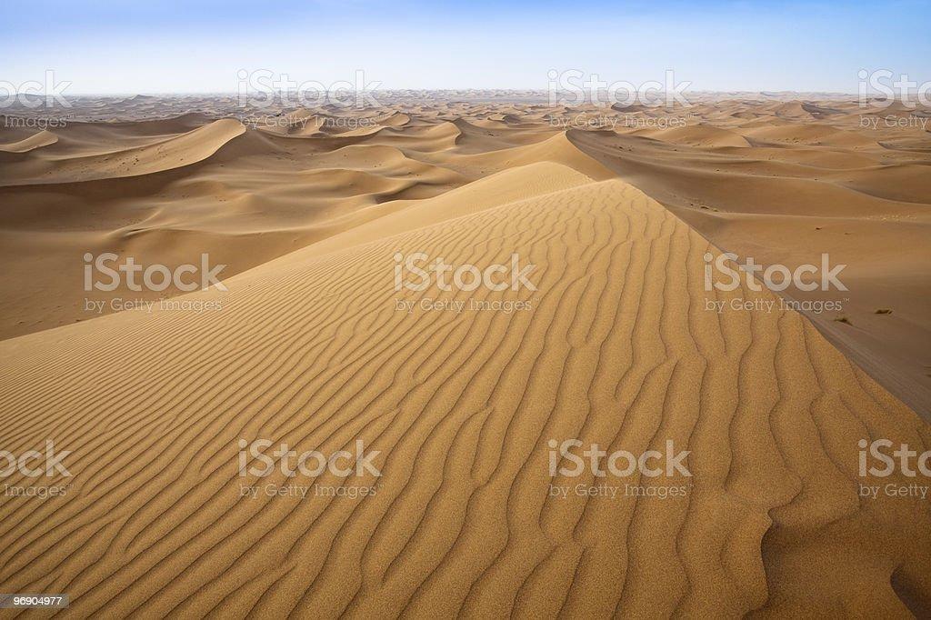 Sand dunes in Sahara. royalty-free stock photo