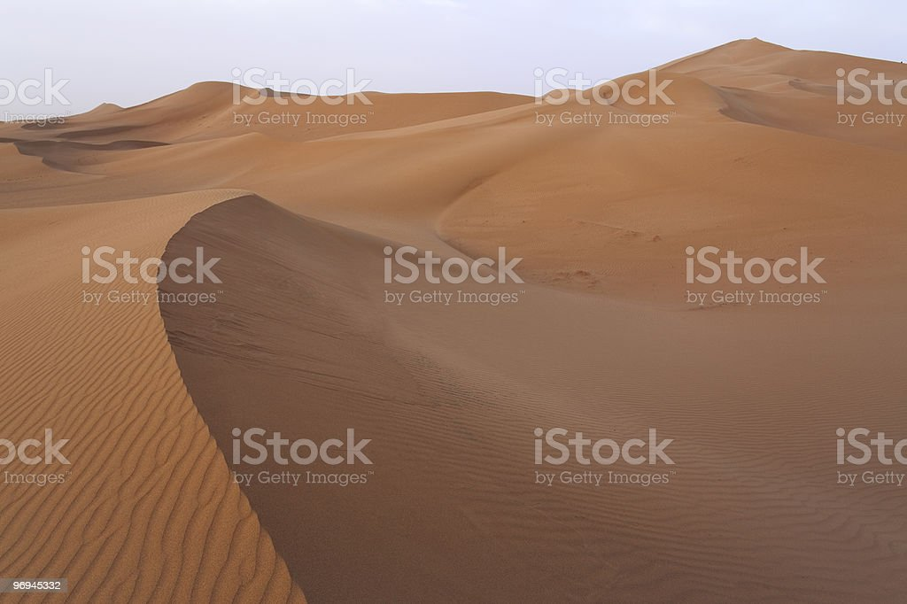 Sand dunes in Sahara. royalty-free stock photo