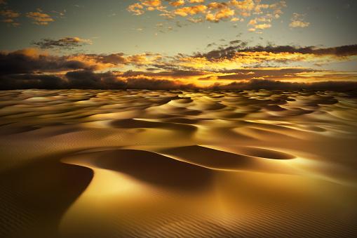 istock Sand dunes in the desert 1001382696