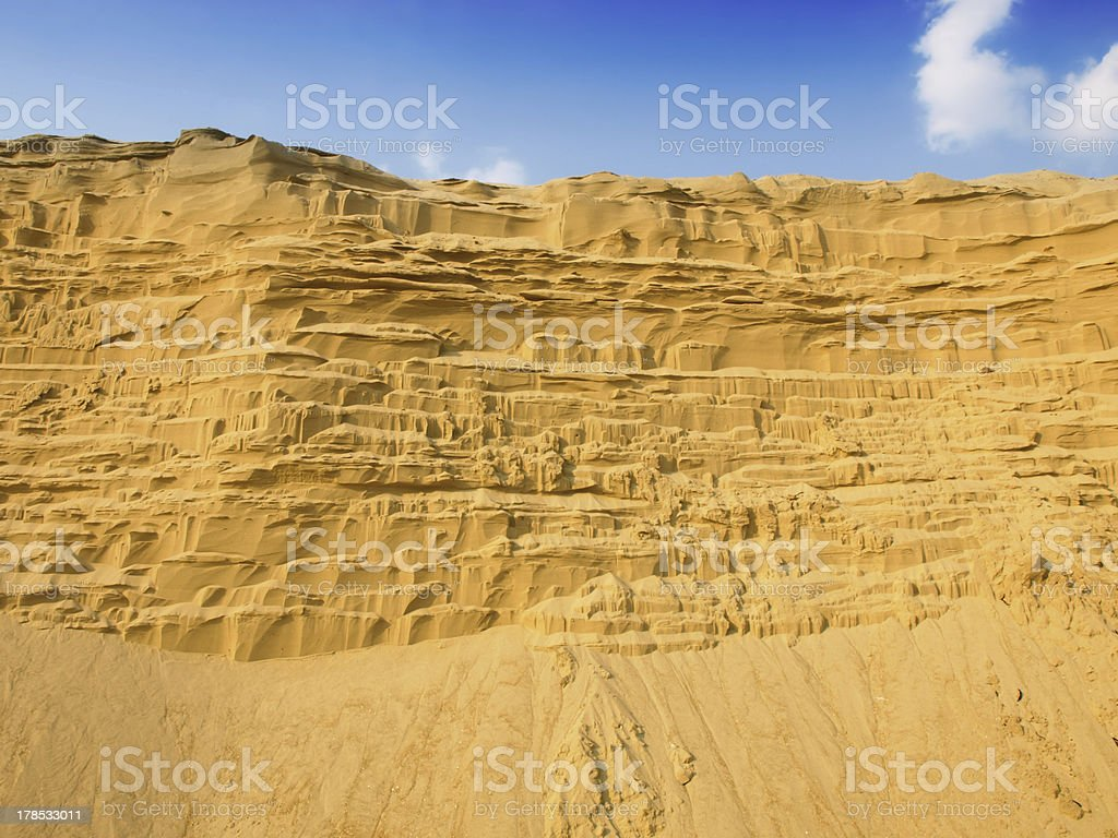 sand dunes in the desert royalty-free stock photo