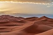 Sand dunes in the Sahara Desert - Morocco