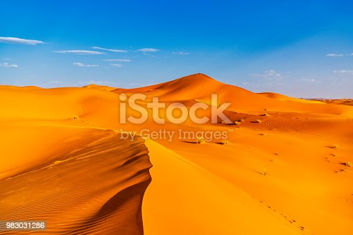 Sand dunes in the Sahara Desert - Morocco