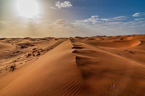 Sanddünen In Der Wüste Sahara Marokko Stockfoto und mehr Bilder von Abenteuer