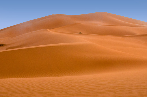 Sand dunes and rocks near the Djanet in the Algeria
