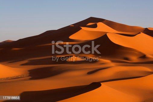 istock Sand dunes in the Sahara desert 177518653