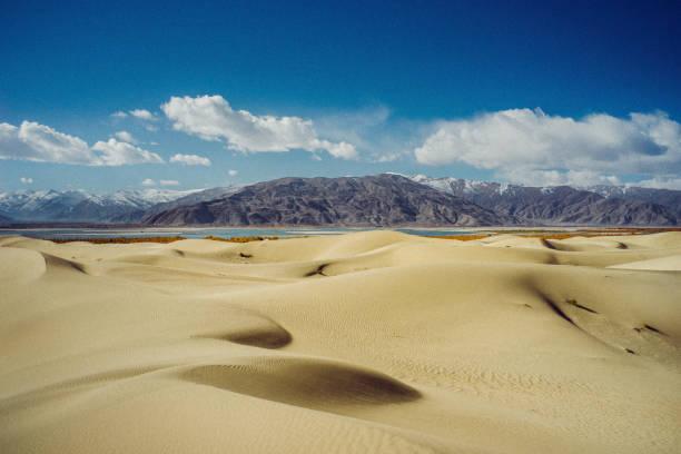 Sand dunes in Tibet stock photo