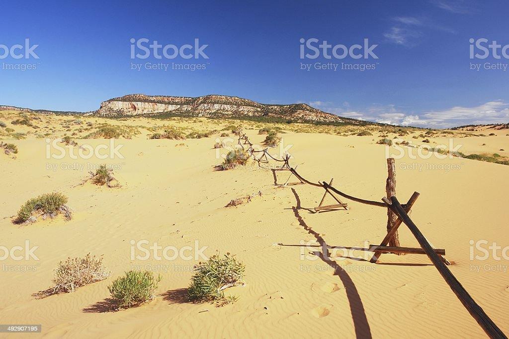 Sand dunes in Utah stock photo