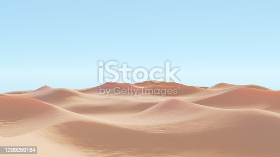 Tunisia - January 3, 2008: The sand sahara desert at Tunisia at sunny day