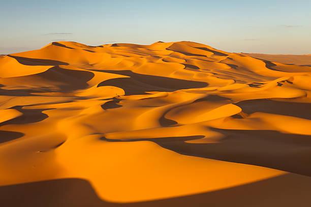 Sand Dunes - Murzuq Desert, Sahara, Libya stock photo