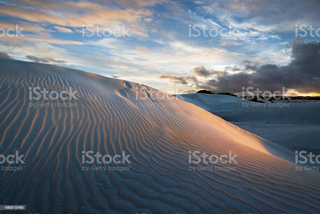 Sand Dunes near Geraldton, Western Australia stock photo