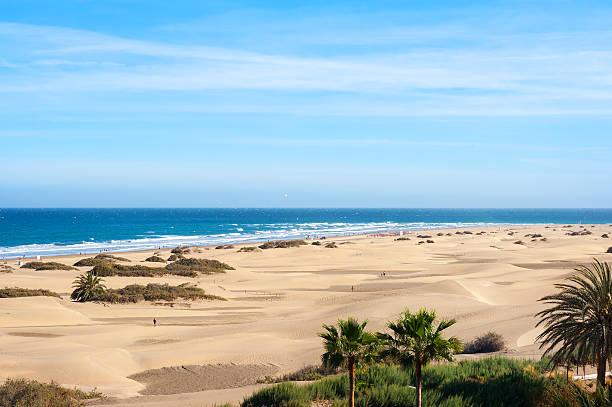 Dunas de arena de Maspalomas. Gran Canaria. Islas Canarias. - foto de stock