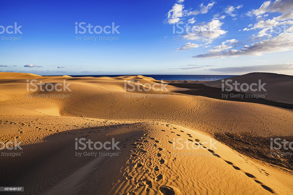 sand dunes of maspalomas stock photo