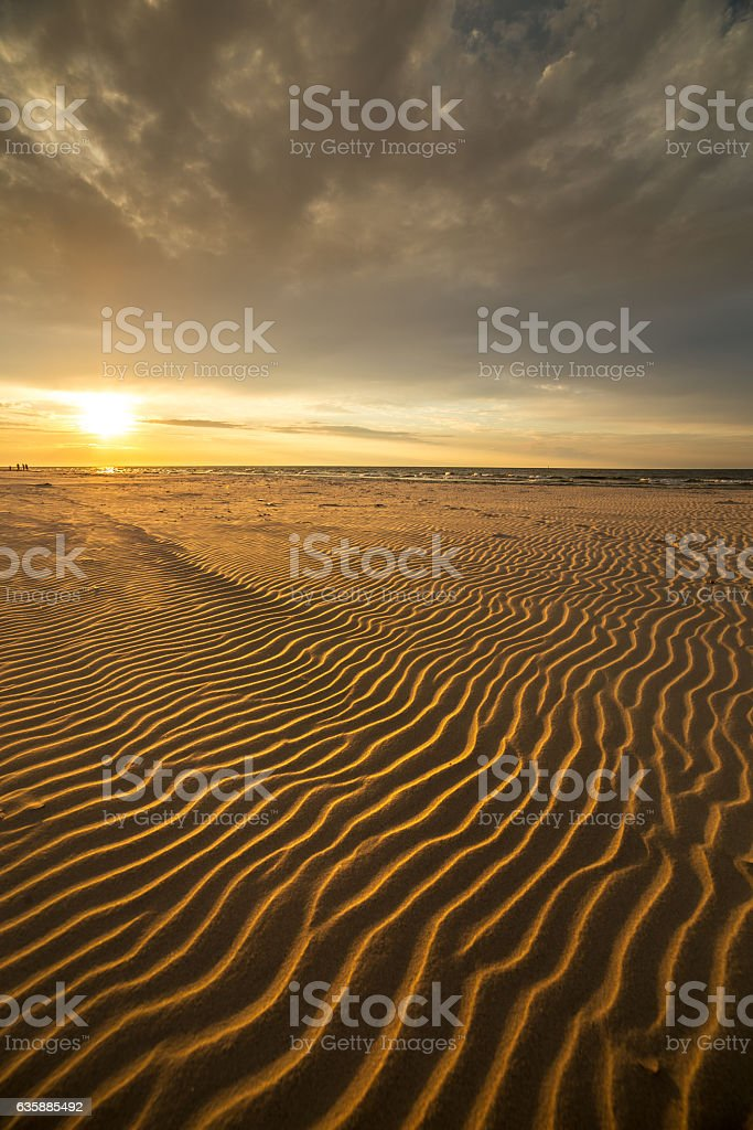 Sand dunes on the beach in northern Poland stock photo