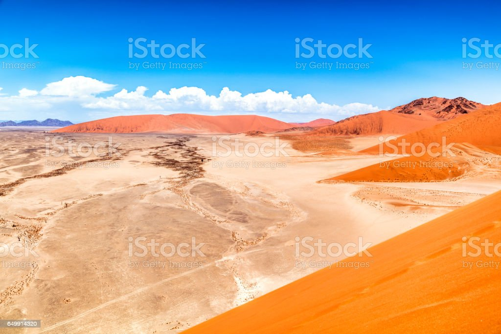 Sand dunes, Sossusvlei, Namib Desert, Namibia stock photo