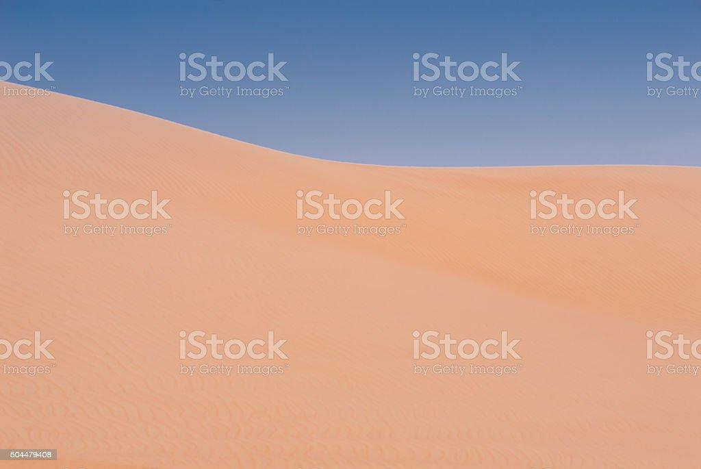 Sand Dunes - Wahiba Sands - Oman stock photo
