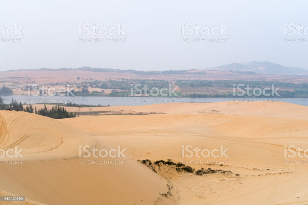 sand dunes with water royalty-free stock photo