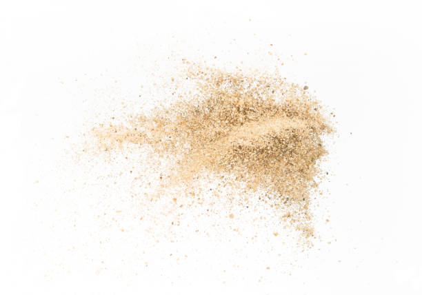 Sand  explode on white background ,throwing freeze stop motion - foto de stock