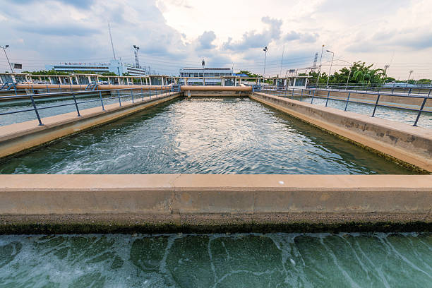 sand filtration tank-Top im Wasseraufbereitungsanlage – Foto