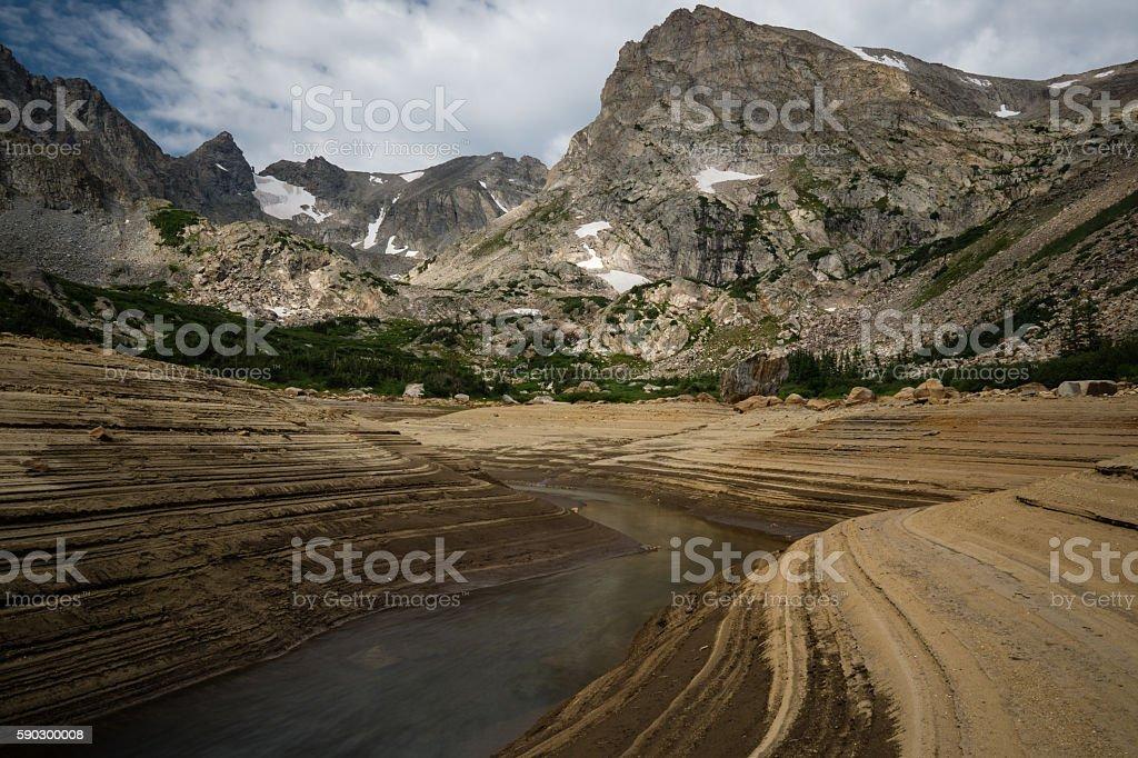 Sand Flat At Lake Isabelle, Colorado royaltyfri bildbanksbilder
