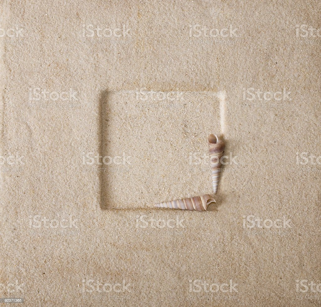 Sand Frame royalty-free stock photo