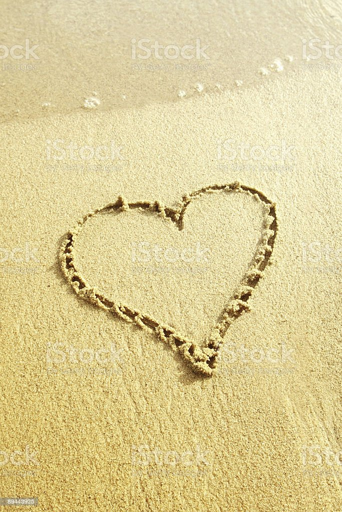 Sand heart royalty-free stock photo