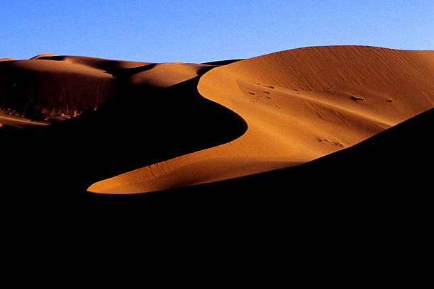 Sand hills in the desert stock photo